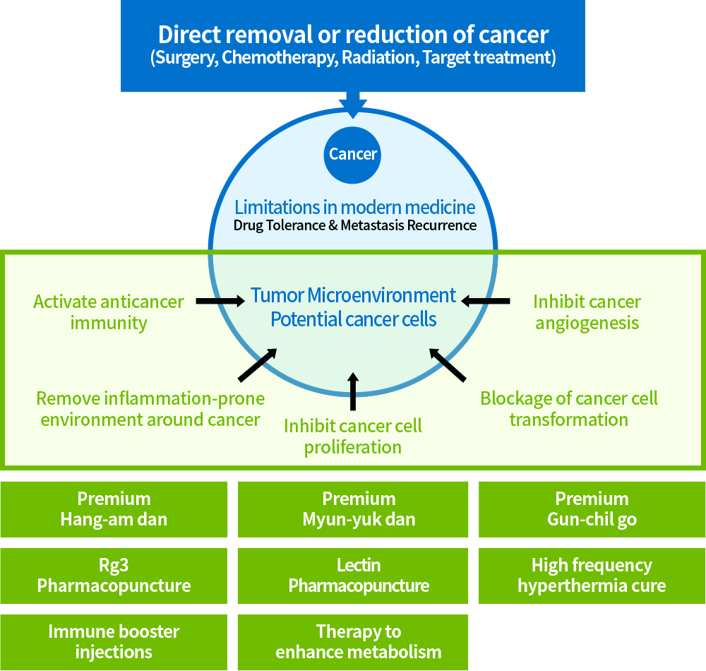 Broad range of attacks against various targets of cancer